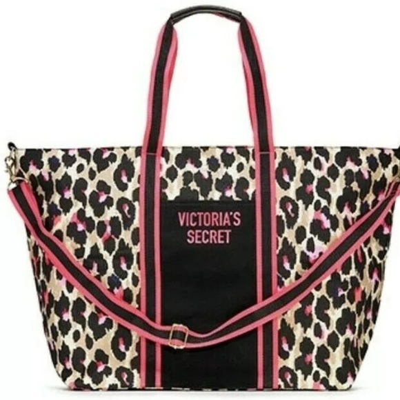 764370f2e8 Victoria s Secret Wild Weekender Leopard Tote Bag